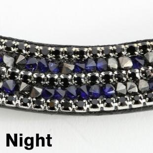 Naczółek Button Night granatowy
