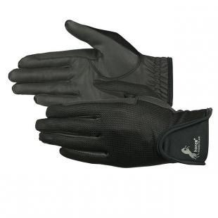 Horze Rękawiczki Suede Mesh S19 black