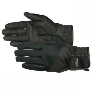 Rękawiczki skórzane JR Bling czarne