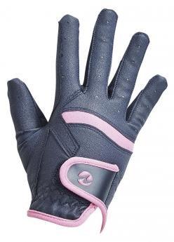 Rękawiczki AlexJR granat/róż