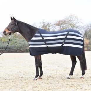 Derka polarowa Stripes black/grey/white